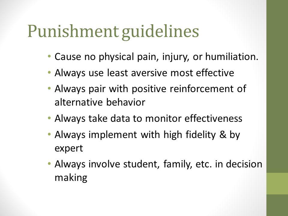 Punishment guidelines