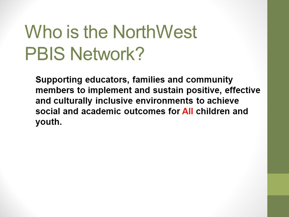 Who is the NorthWest PBIS Network