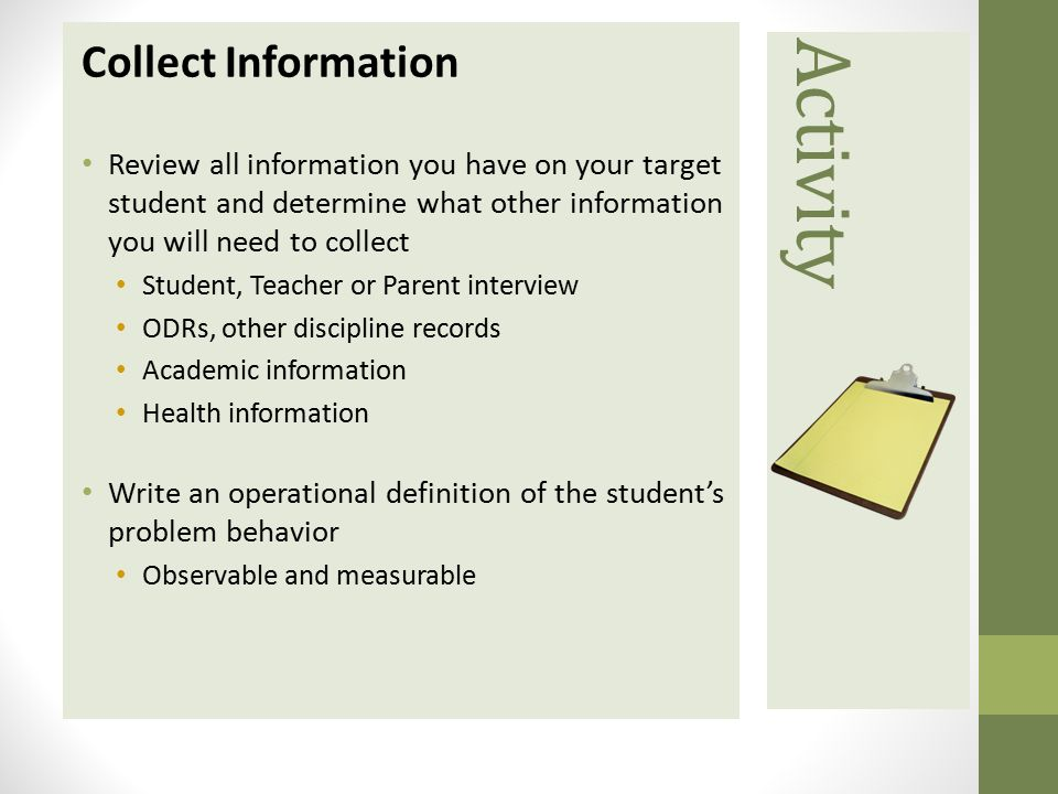 Activity Collect Information