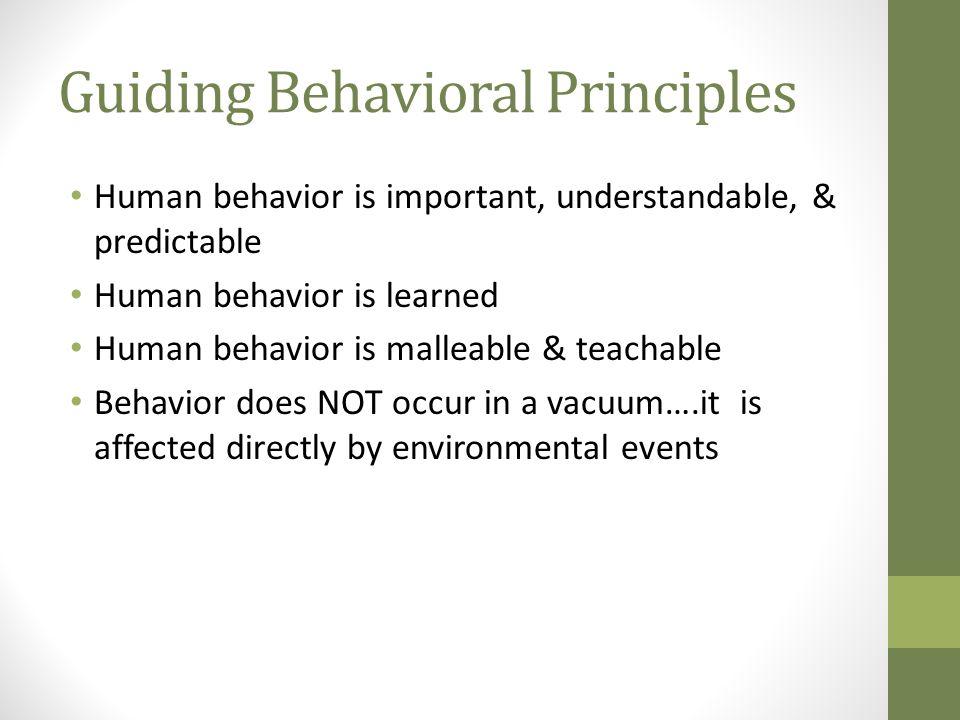 Guiding Behavioral Principles
