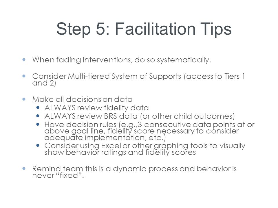 Step 5: Facilitation Tips