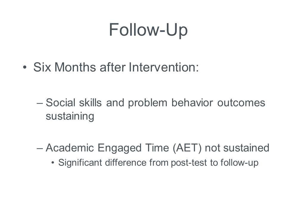 Follow-Up Six Months after Intervention: