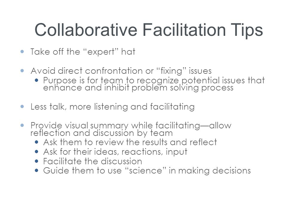 Collaborative Facilitation Tips