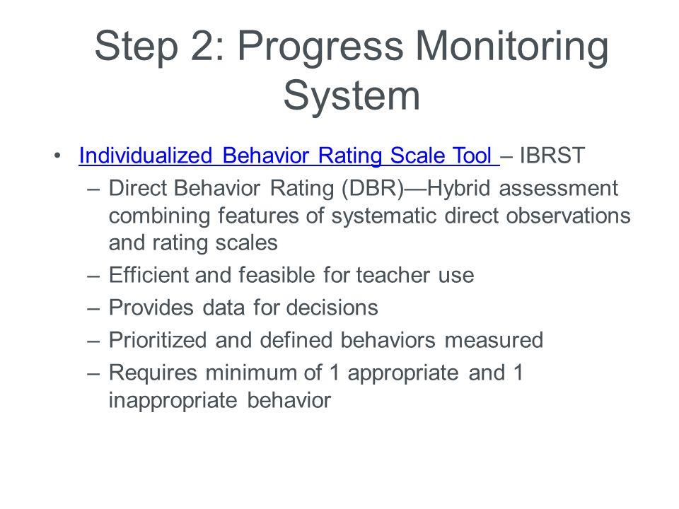 Step 2: Progress Monitoring System