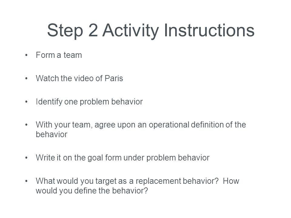 Step 2 Activity Instructions