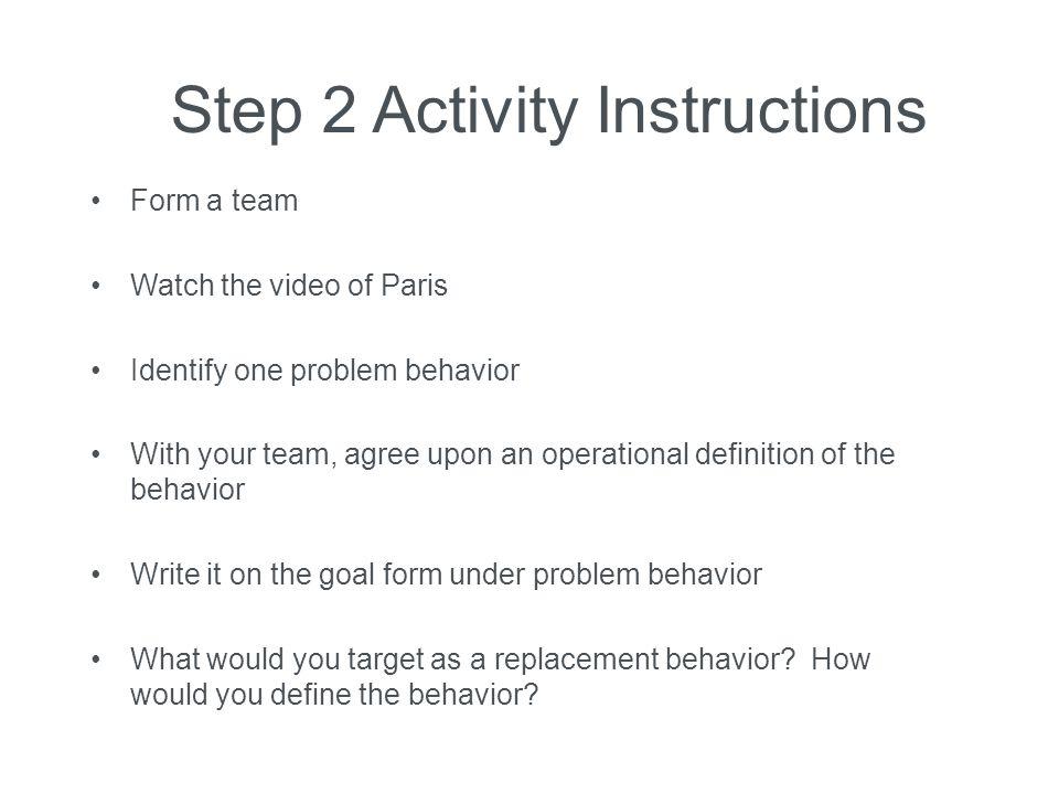 Step 2 Activity Instructions