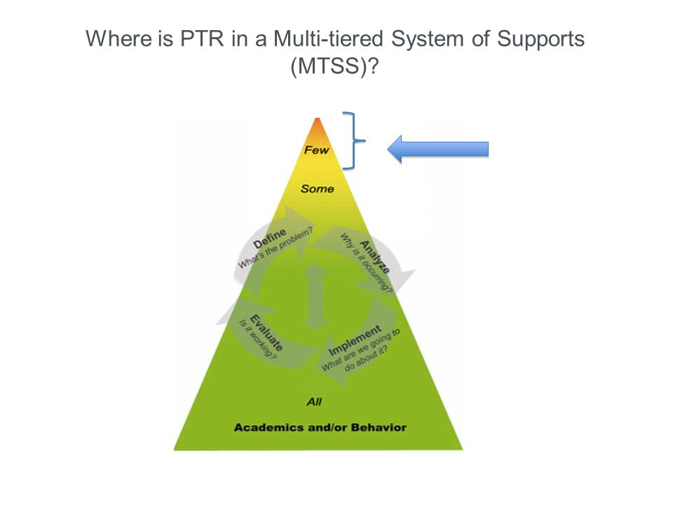 Where is PTR in a Multi-tiered System of Supports (MTSS)