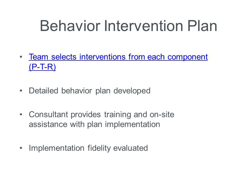 Prevent-Teach-Reinforce Model: A Tier 3 Behavior Intervention ...
