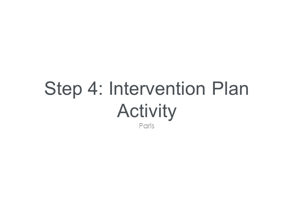 Step 4: Intervention Plan Activity