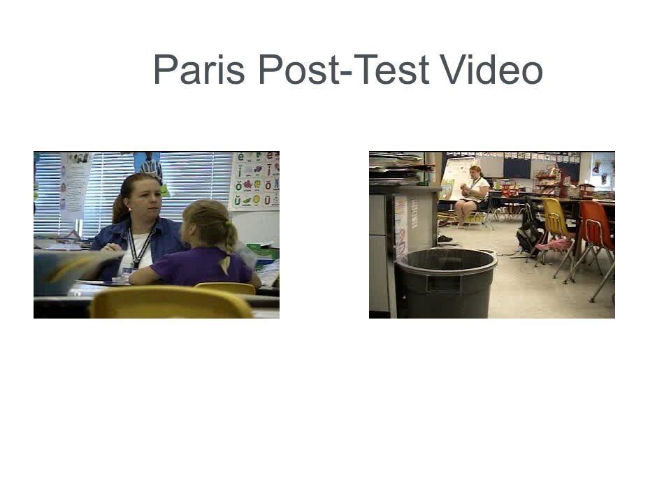 Paris Post-Test Video
