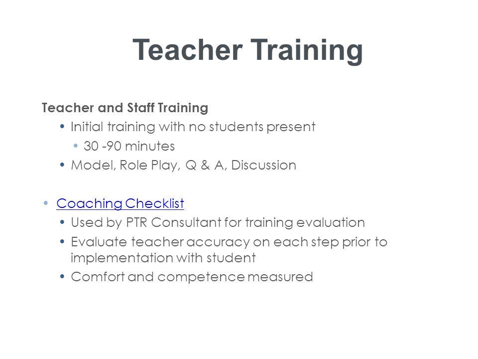 Teacher Training Teacher and Staff Training