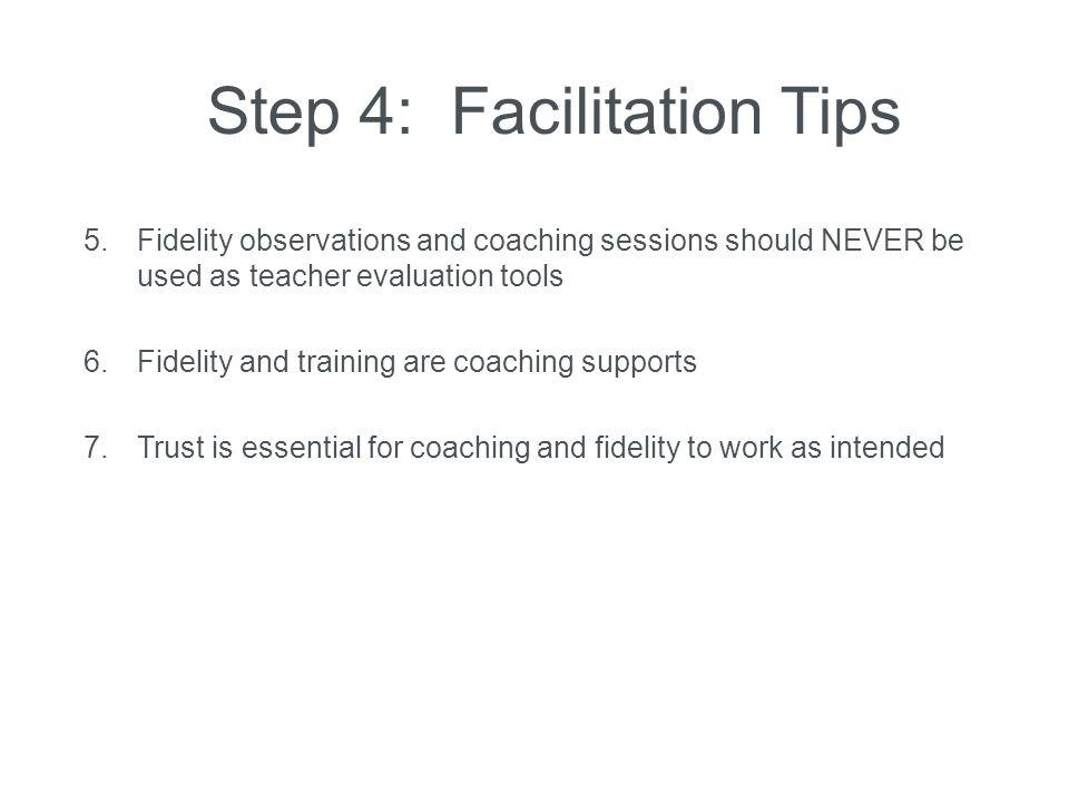 Step 4: Facilitation Tips