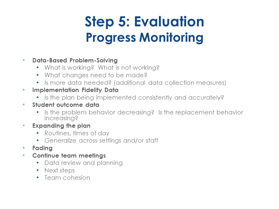 Step 5: Evaluation Progress Monitoring