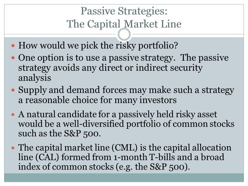 Passive Strategies: The Capital Market Line