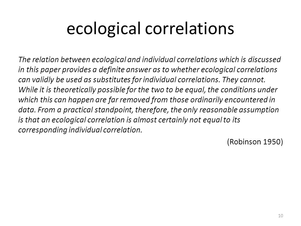 ecological correlations