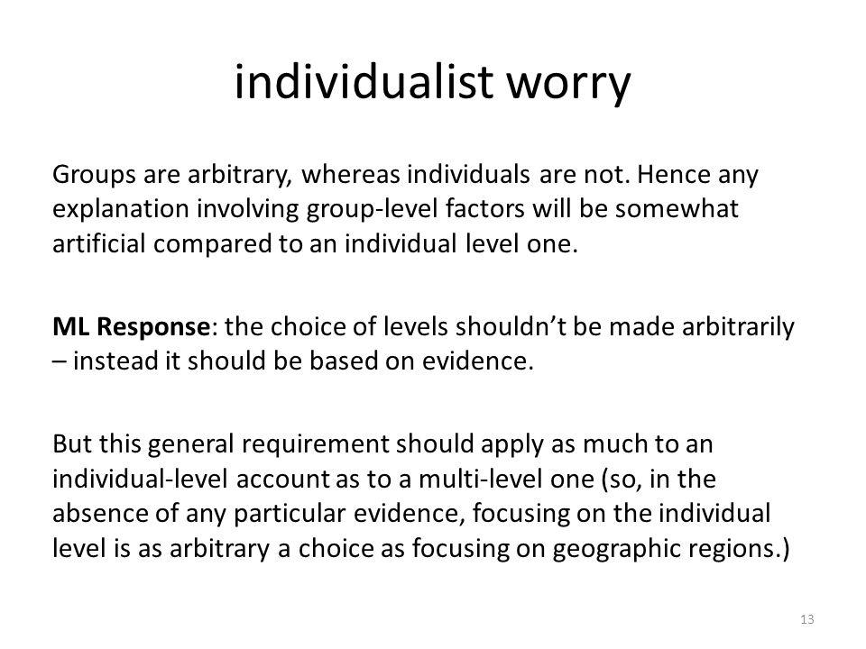 individualist worry