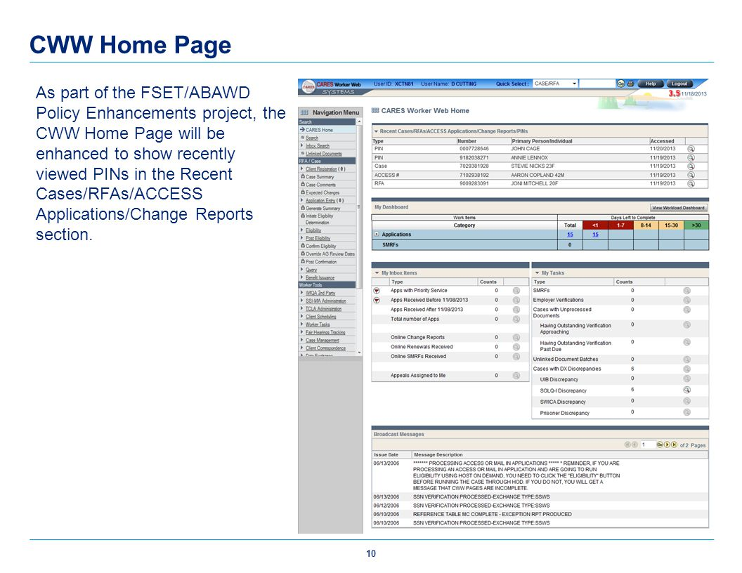CWW Home Page