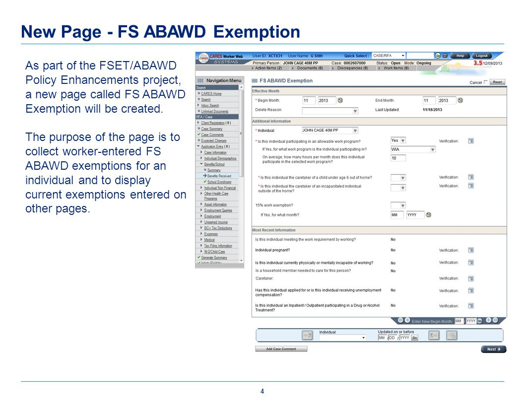 New Page - FS ABAWD Exemption