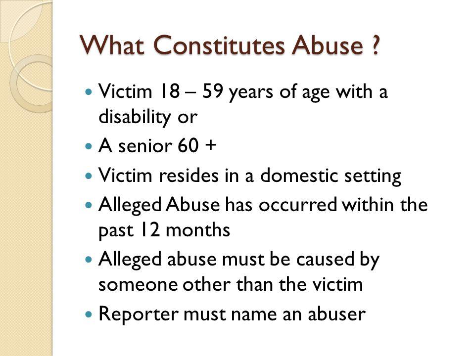 What Constitutes Abuse