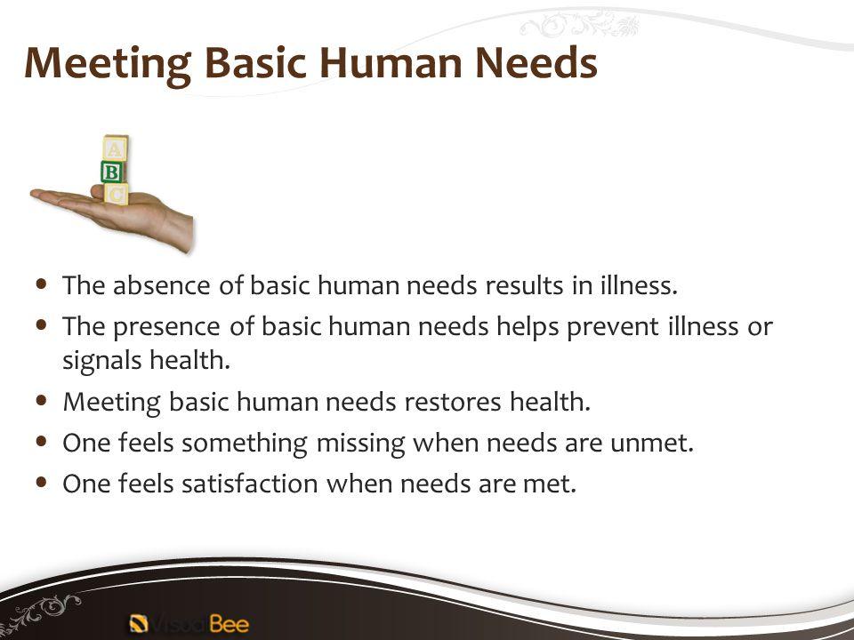 Meeting Basic Human Needs