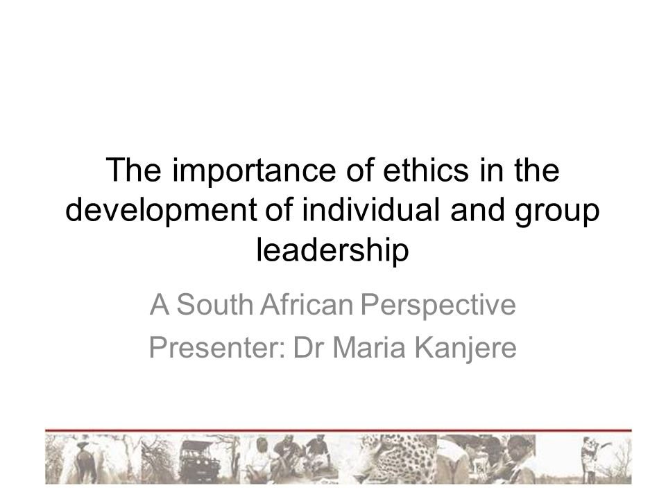 A South African Perspective Presenter: Dr Maria Kanjere