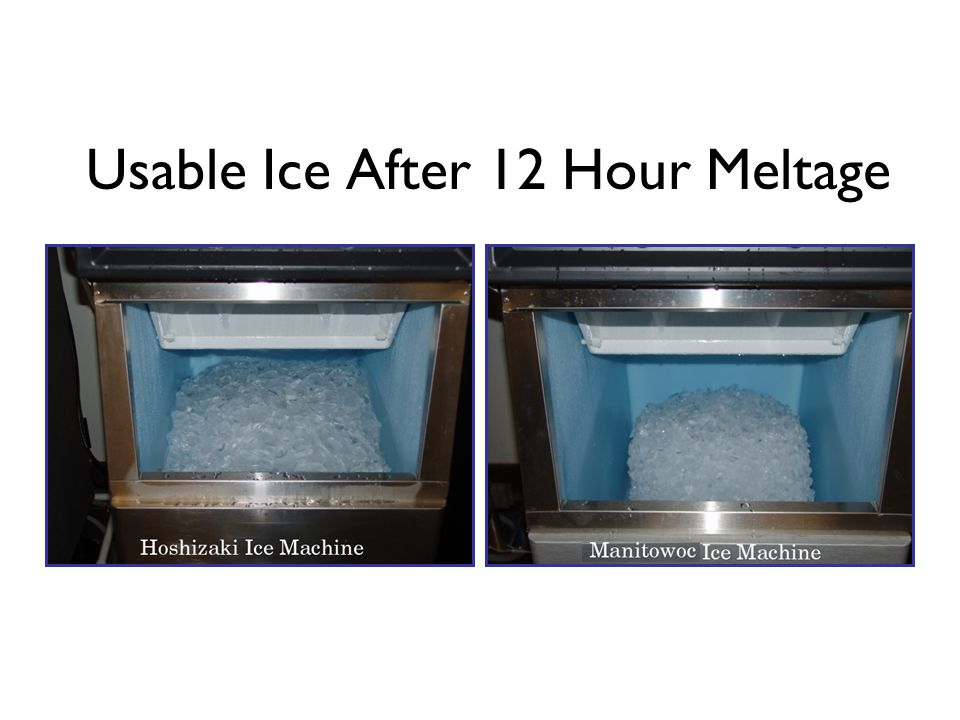 Usable Ice After 12 Hour Meltage
