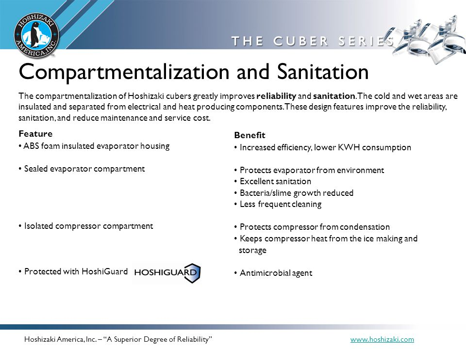 Compartmentalization and Sanitation