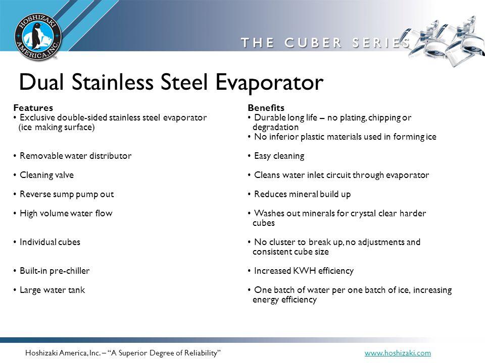 Dual Stainless Steel Evaporator
