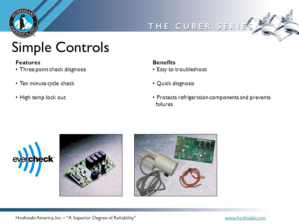 Simple Controls Features Three point check diagnosis