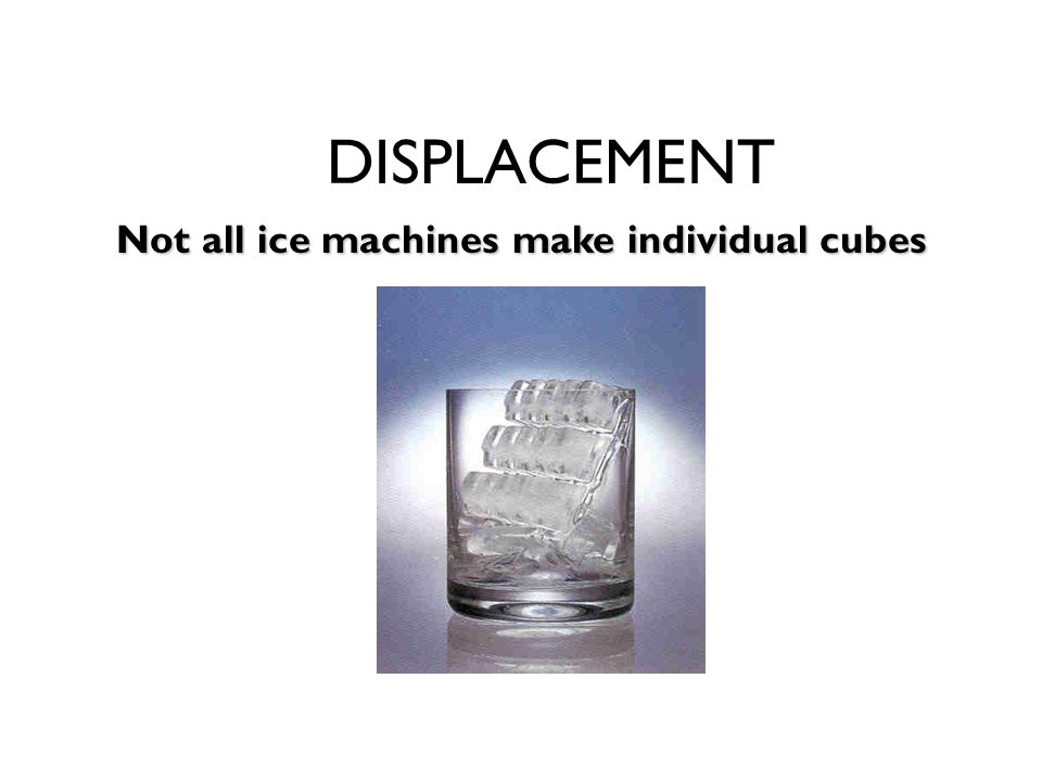 Not all ice machines make individual cubes