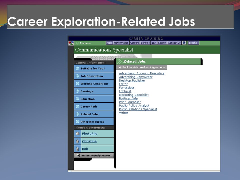 Career Exploration-Related Jobs