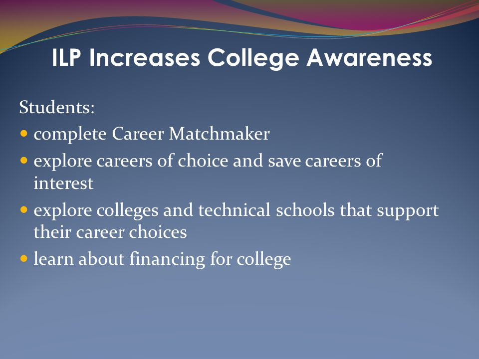 ILP Increases College Awareness