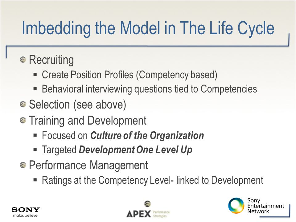Imbedding the Model in The Life Cycle