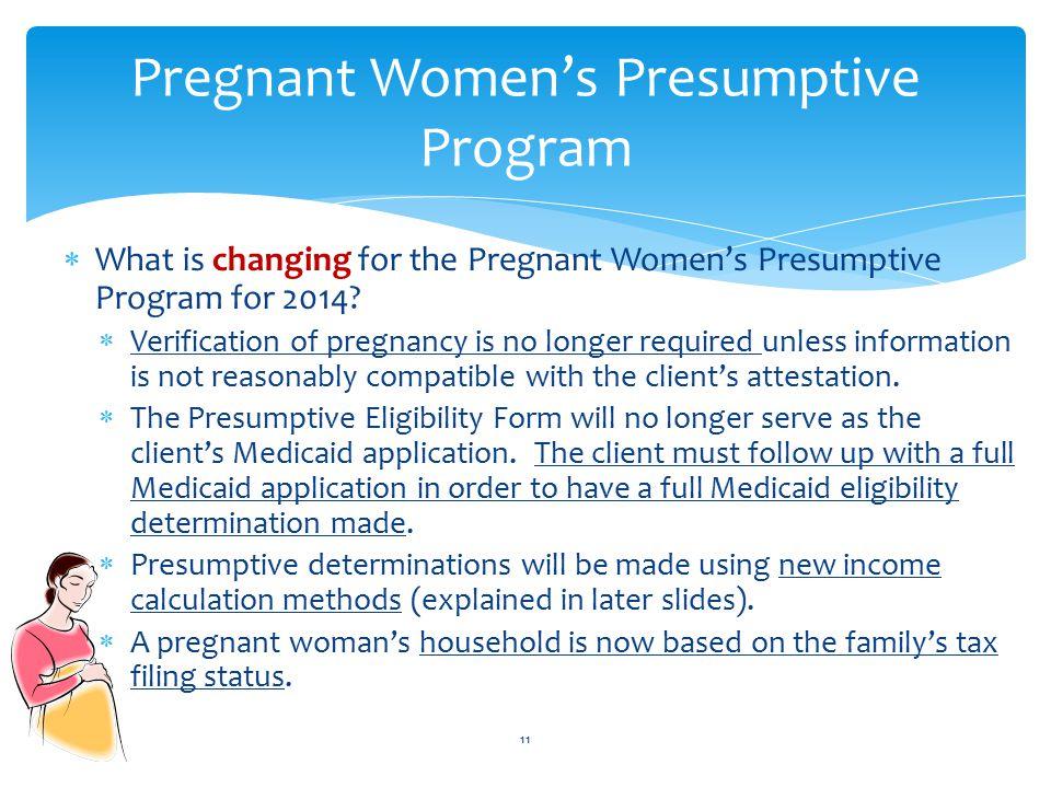 Pregnant Women's Presumptive Program