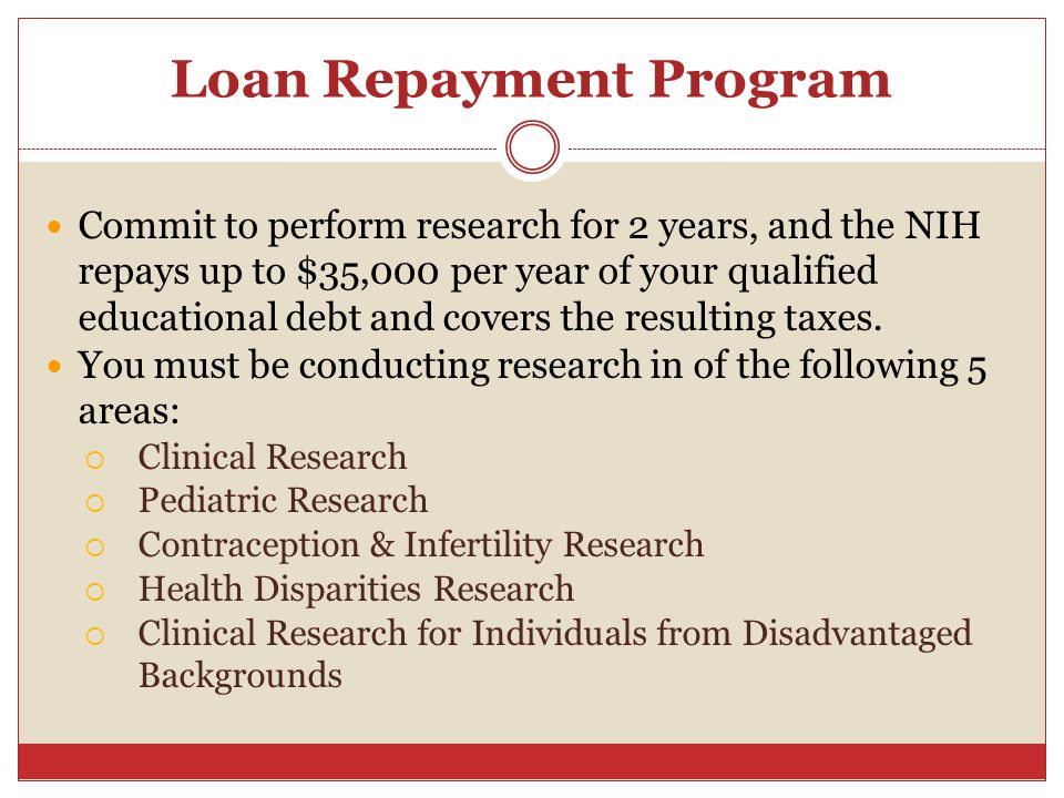 Loan Repayment Program
