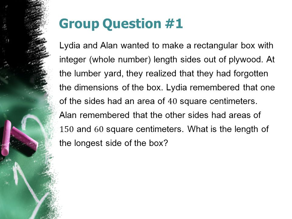 Group Question #1