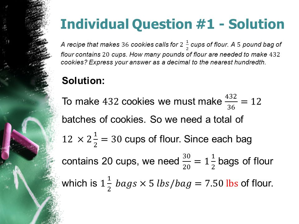 Individual Question #1 - Solution