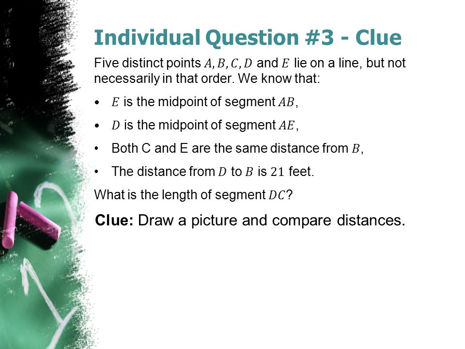 Individual Question #3 - Clue
