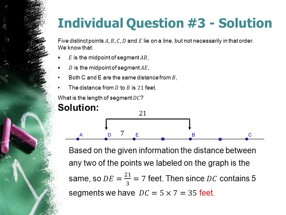 Individual Question #3 - Solution