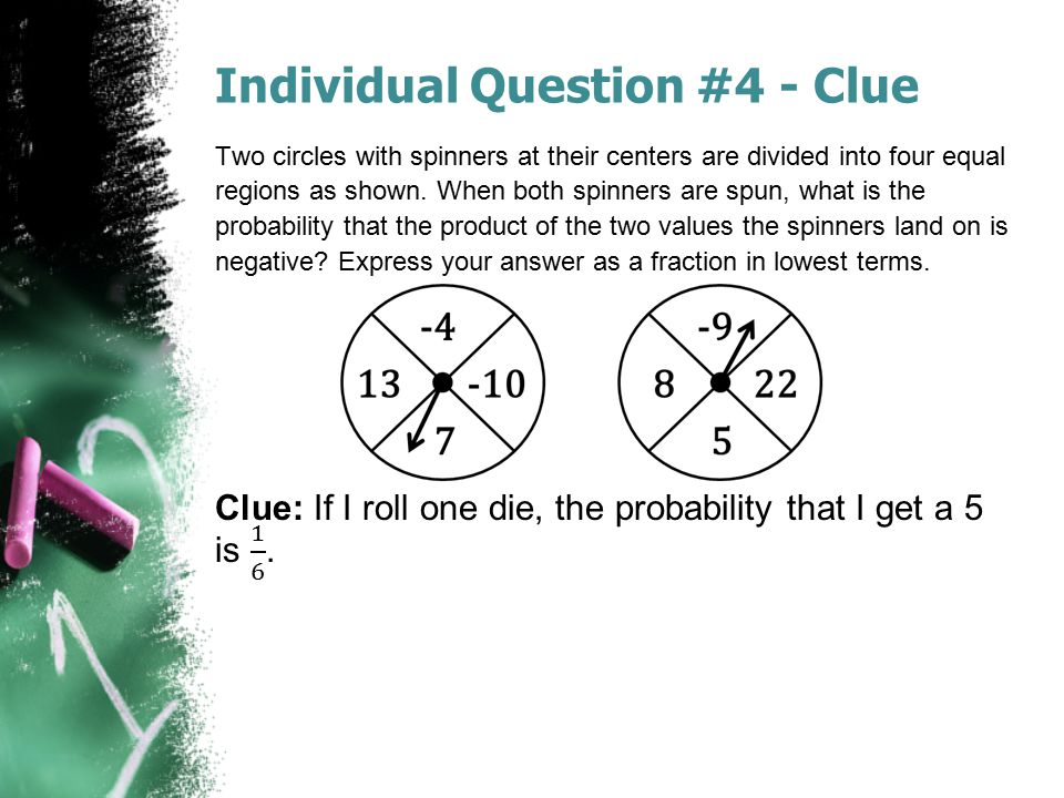 Individual Question #4 - Clue