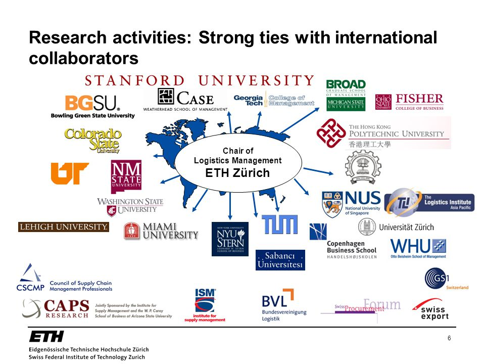 Research activities: Strong ties with international collaborators