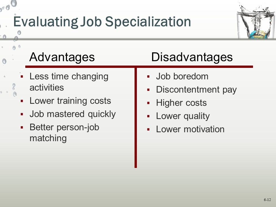 Evaluating Job Specialization