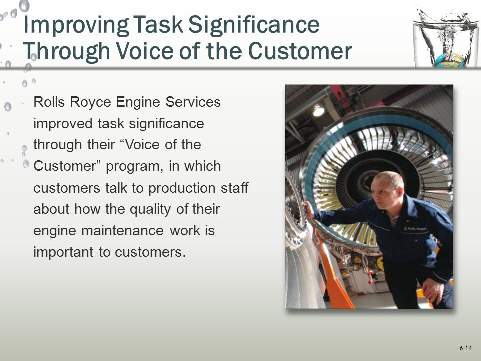 Improving Task Significance Through Voice of the Customer