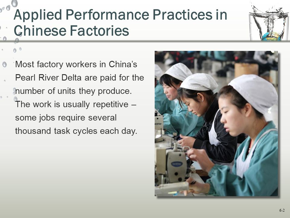 Applied Performance Practices in Chinese Factories