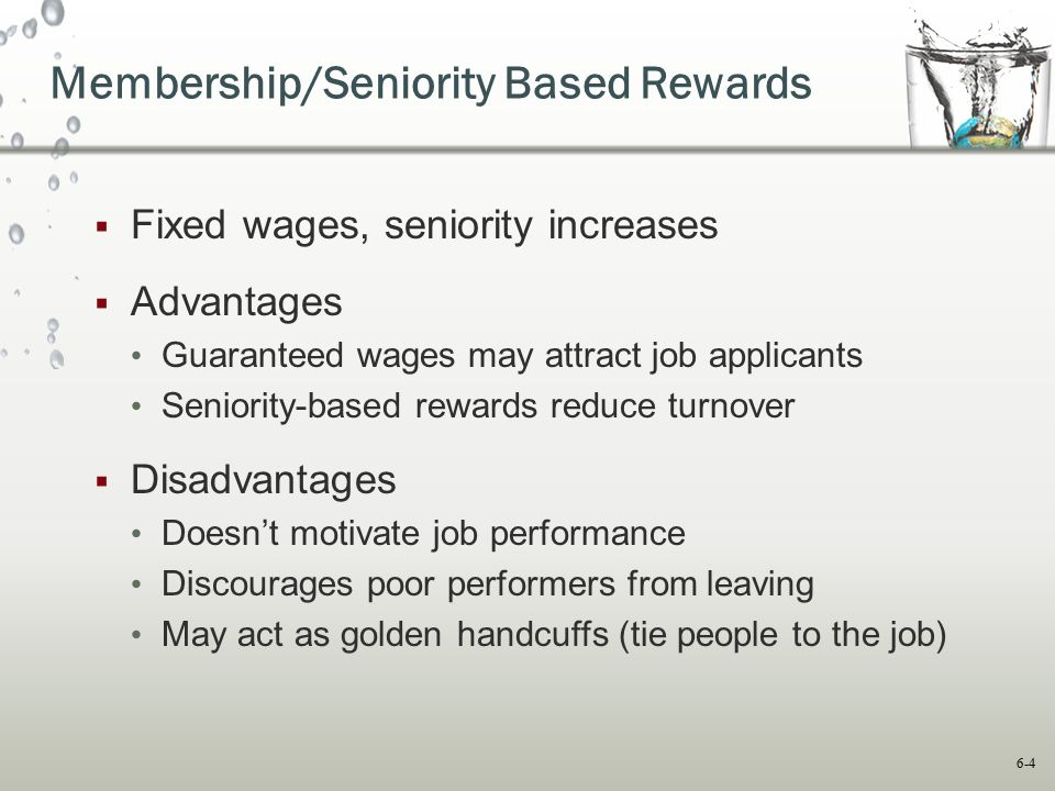 Membership/Seniority Based Rewards