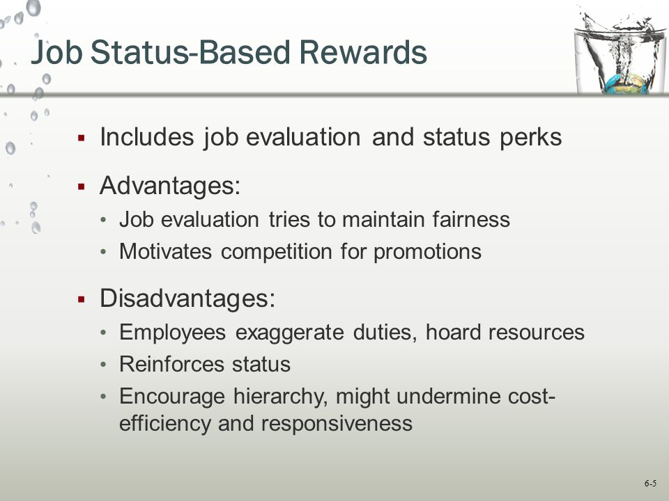 Job Status-Based Rewards