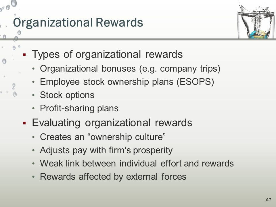 Organizational Rewards