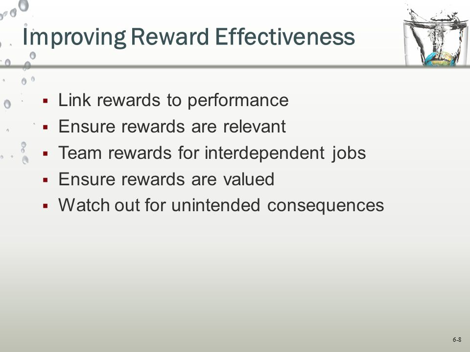 Improving Reward Effectiveness