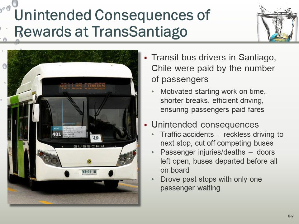 Unintended Consequences of Rewards at TransSantiago