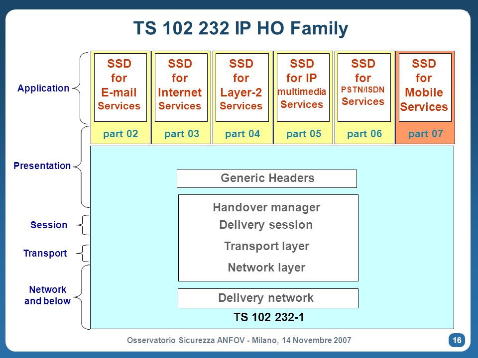 SSD for IP multimedia Services